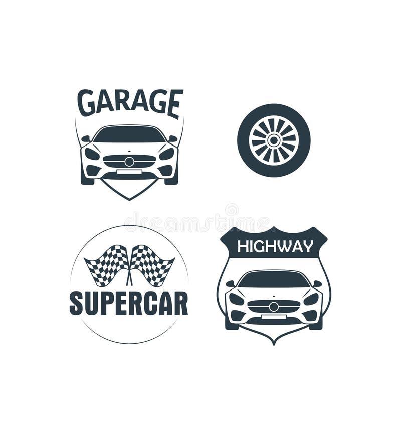 Wektor autostrada garażu logo ilustracja wektor