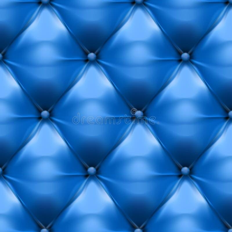 Wektor błękitny tapicerowanie skóry wzoru tło royalty ilustracja