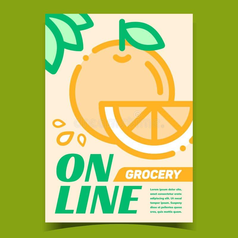 Wektor banerów reklamowych w sklepie spożywczym online ilustracji
