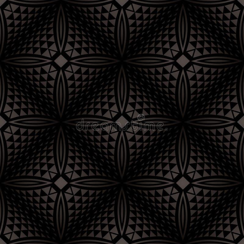 Wektor - Bezszwowy czarny geometrical tło royalty ilustracja