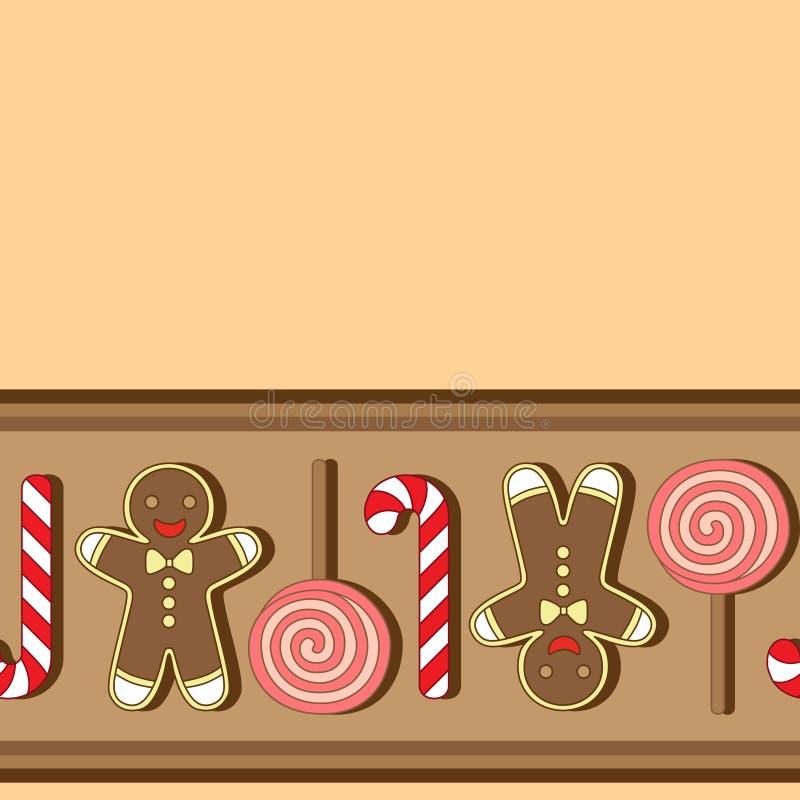 wektor bezszwowy wzoru Christmassy ciastka ilustracji
