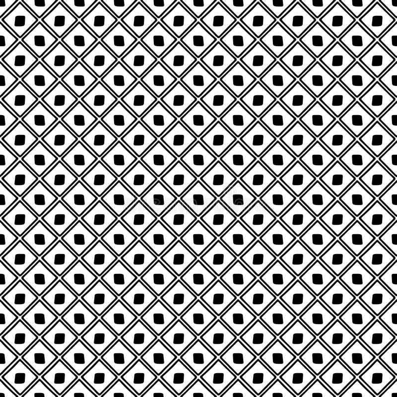 wektor bezszwowy wzoru Czarny i biały geometrical tło z ręka rysującymi dekoracyjnymi elementami Druk z prostym geometrycznym m ilustracja wektor