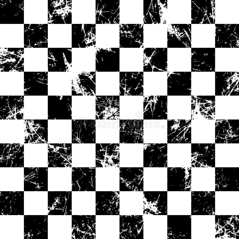 wektor bezszwowy wzoru Kreatywnie geometryczny w kratkę czarny i biały tło z kwadratami ilustracja wektor