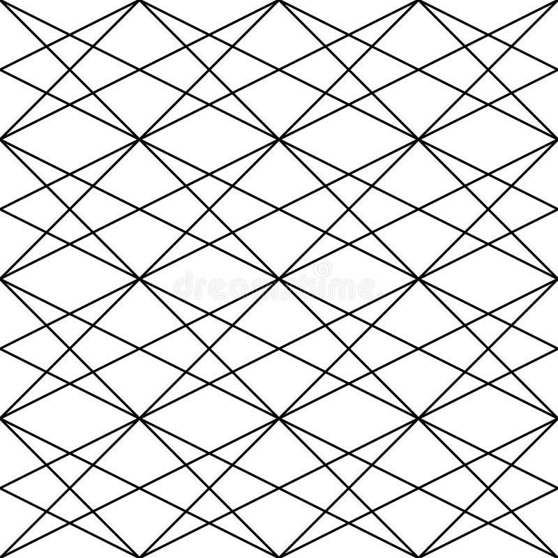 wektor bezszwowy wzoru Nowożytna elegancka abstrakcjonistyczna tekstura Wielostrzałowe geometryczne płytki od pasiastych elementó ilustracji