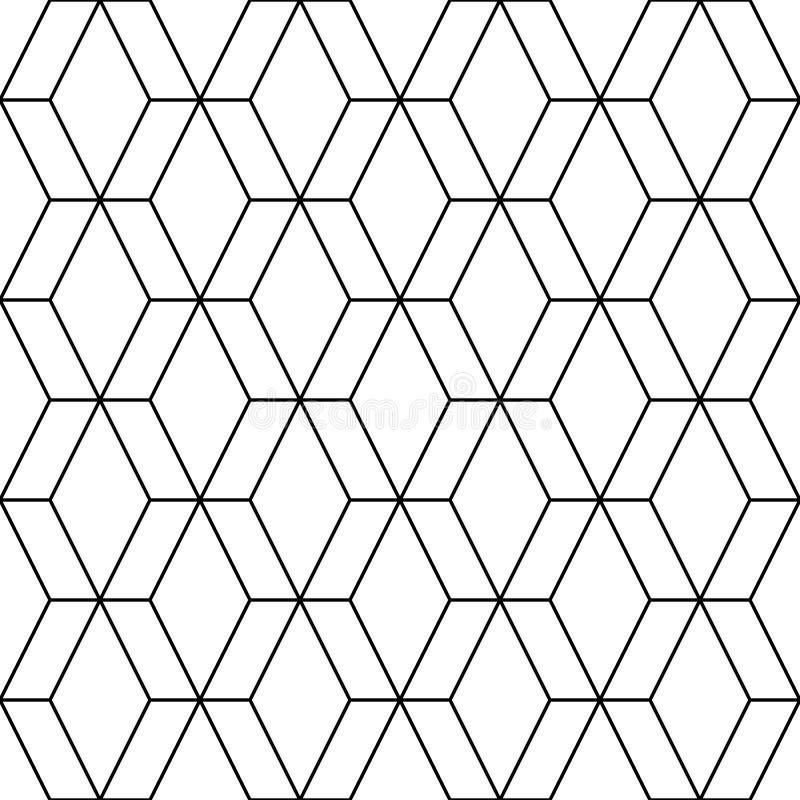 wektor bezszwowy wzoru nowożytna elegancka tekstura Wielostrzałowe geometryczne płytki od pasiastych elementów royalty ilustracja
