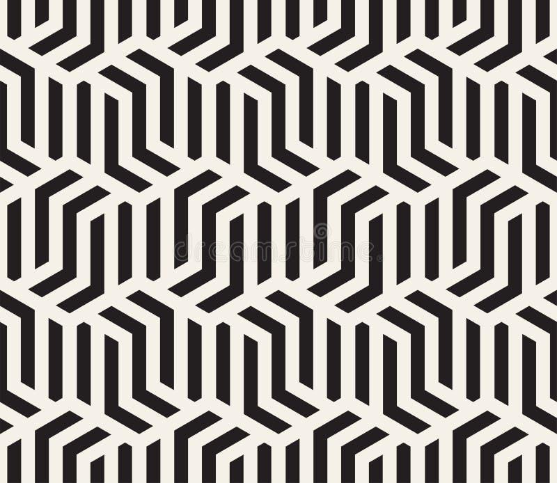 wektor bezszwowy wzoru Nowożytna elegancka abstrakcjonistyczna tekstura Wielostrzałowe geometryczne płytki ilustracji