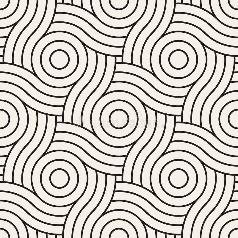 wektor bezszwowy wzoru Nowożytna elegancka abstrakcjonistyczna tekstura Wielostrzałowe geometryczne płytki royalty ilustracja