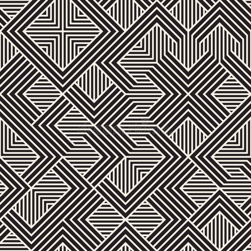 wektor bezszwowy wzoru Nowożytna elegancka abstrakcjonistyczna tekstura Wielostrzałowe geometryczne płytki ilustracja wektor