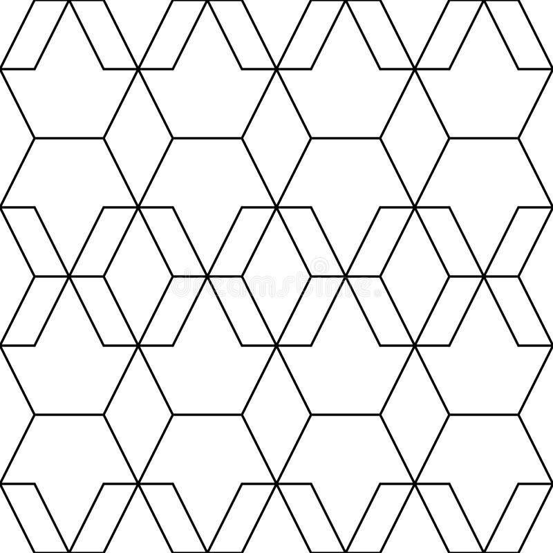 wektor bezszwowy wzoru Nowożytna elegancka abstrakcjonistyczna tekstura Wielostrzałowe geometryczne płytki od pasiastych elementó ilustracja wektor