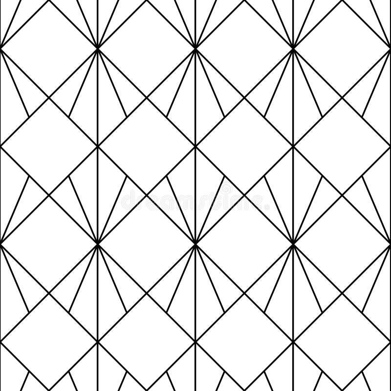 wektor bezszwowy wzoru Nowożytna elegancka abstrakcjonistyczna tekstura Wielostrzałowe geometryczne płytki od pasiastych elementó royalty ilustracja
