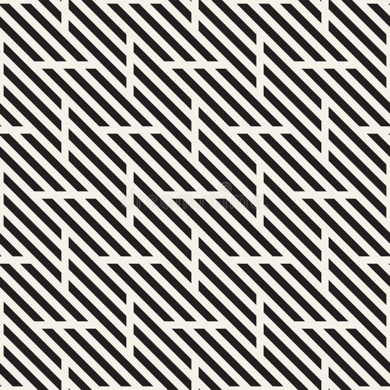 wektor bezszwowy wzoru Nowożytna Elegancka Przeplata linii tekstura Geometryczny Pasiasty ornament royalty ilustracja