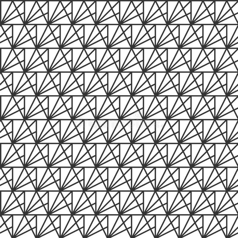 wektor bezszwowy wzoru nowożytna elegancka tekstura Wielostrzałowe geometryczne płytki od pasiastych trójboków Tło dla projekta ilustracja wektor
