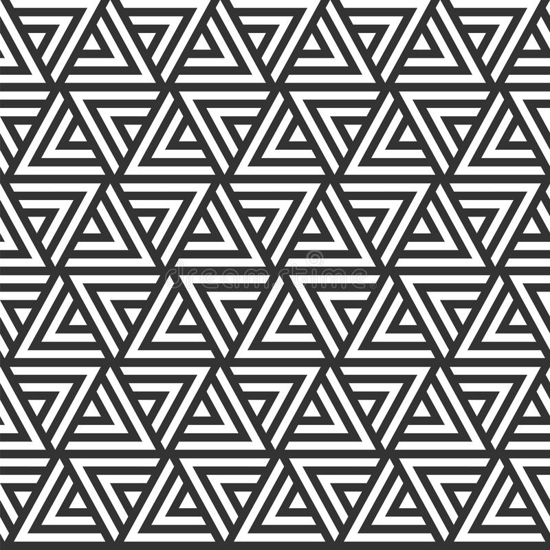 wektor bezszwowy wzoru nowożytna elegancka tekstura Wielostrzałowy geome royalty ilustracja