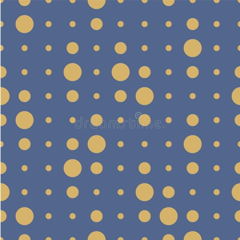 wektor bezszwowy wzoru Okręgi, punkt, punkty, polki kropki tekstura ilustracji