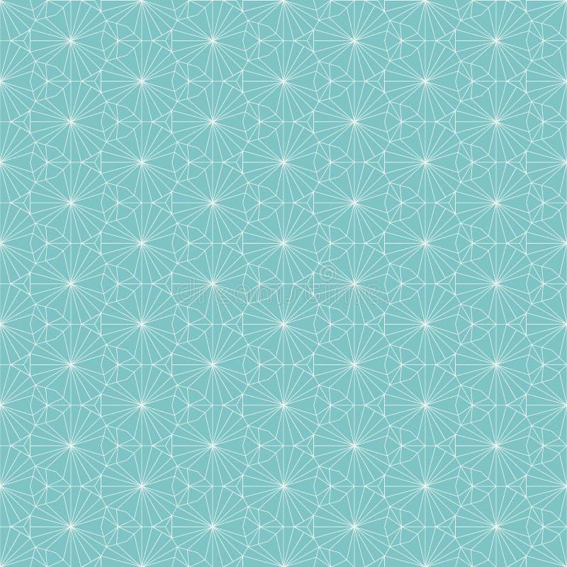 wektor bezszwowy wzoru Wielostrzałowy geometryczny tło z cienkim linia wzorem ilustracja wektor