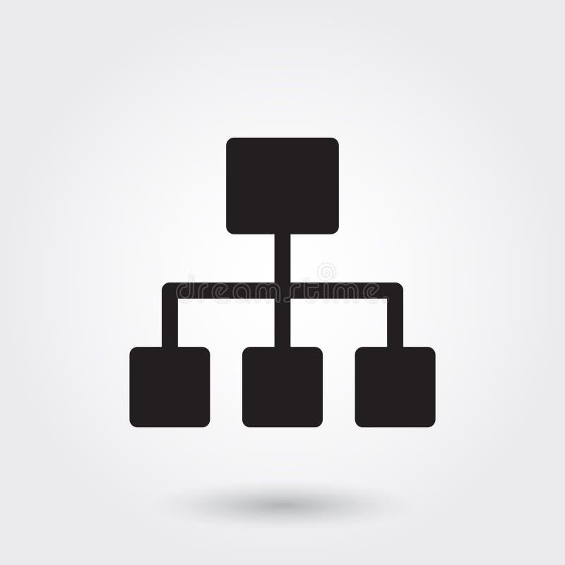 Wektor, Biznesowa struktura glifu ikona dla żadny zamierza doskonalić dla strony internetowej royalty ilustracja