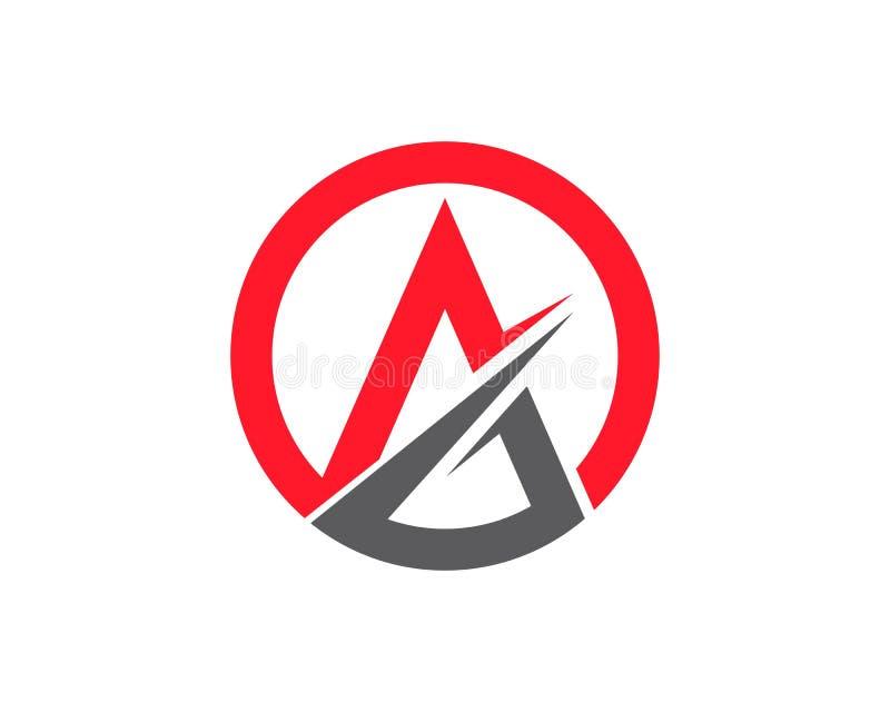 Wektor - Biznesowy korporacyjny listu A loga projekta szablon ilustracji