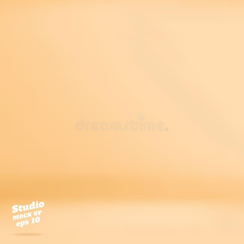 Wektor brzoskwini Pustego pastelowego koloru pracowniany izbowy tło, szablon ilustracja wektor