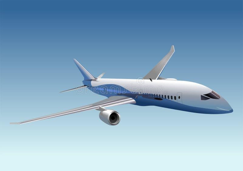 wektor dreamliner pasażera ilustracji