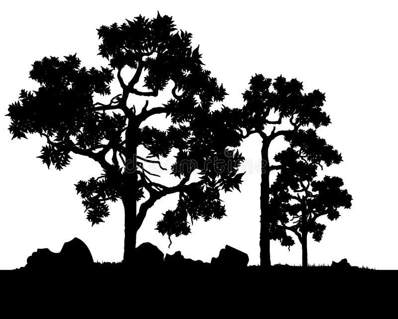 Wektor drzewa ilustracji
