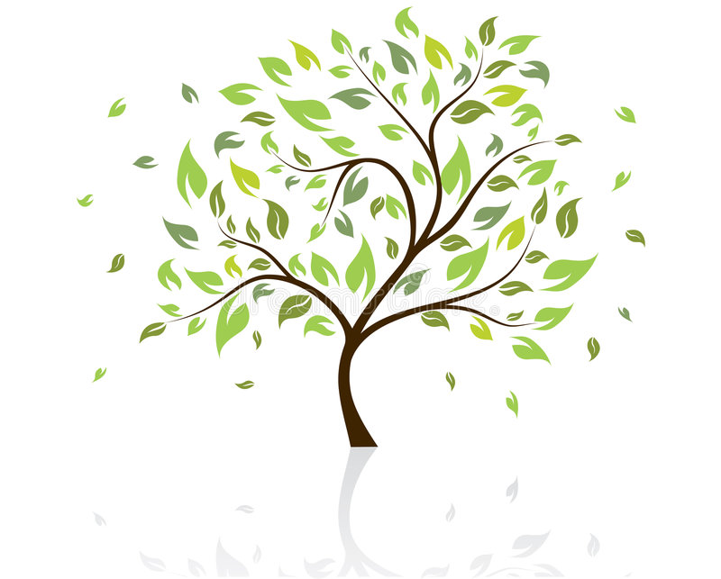 wektor drzewny ilustracji