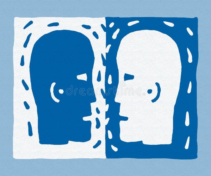 wektor dwóch głów ilustracji