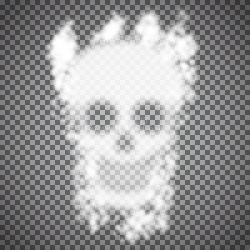Wektor Dymna czaszka ilustracja wektor