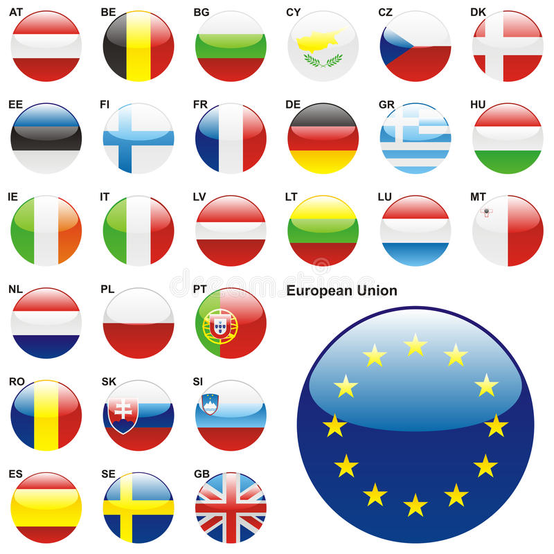 wektor eu zaznacza w pełni ilustracja wektor zdjęcia stock