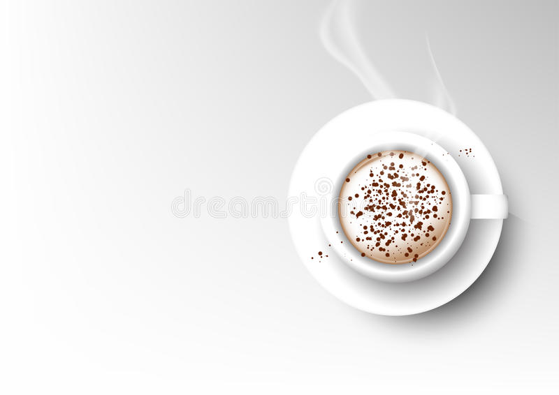Wektor filiżanki kawy odosobniona kolekcja, cappuccino royalty ilustracja