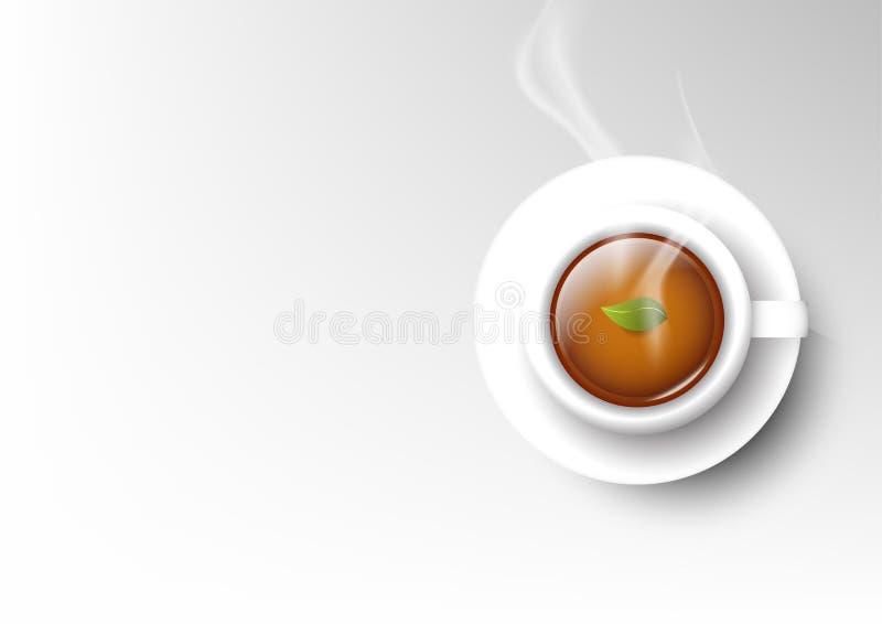 Wektor filiżanki kawy odosobniona kolekcja, gorąca herbata royalty ilustracja