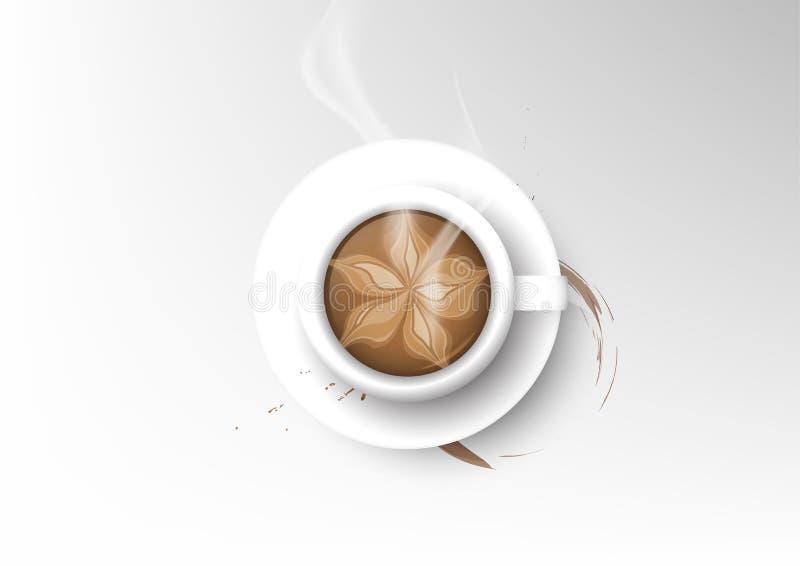 Wektor filiżanki kawy odosobniona kolekcja, mokka ilustracji