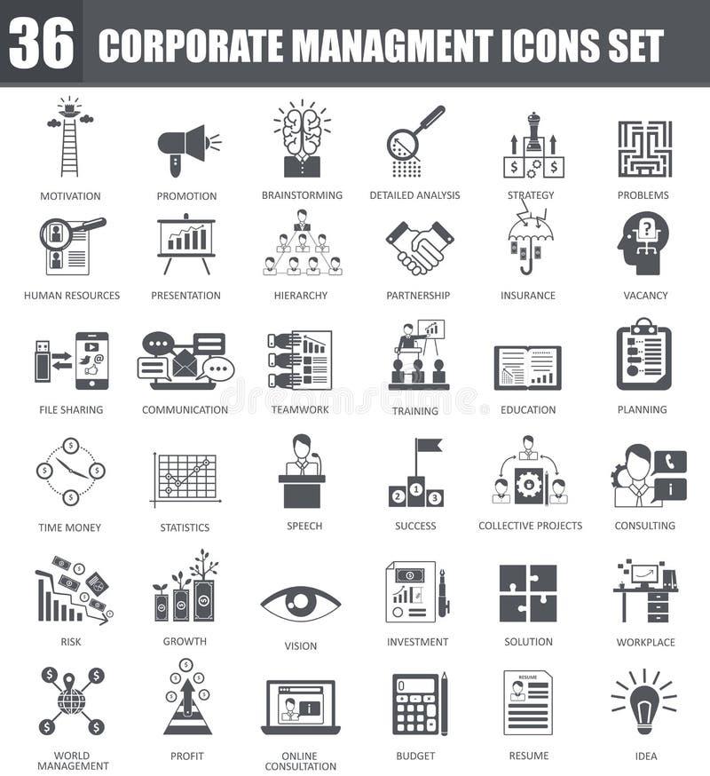 Wektor Finansowe czarne ikony ustawiać Zmrok popielaci symbole na białym tle ilustracja wektor