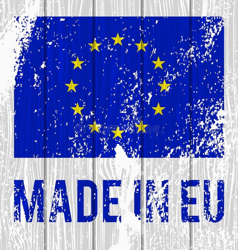 Wektor flaga Europejski zjednoczenie royalty ilustracja