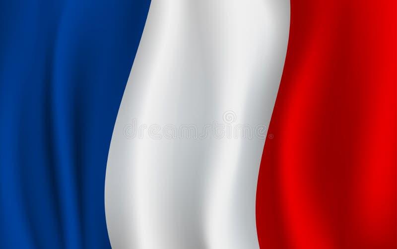 Wektor flaga Francja Francuski krajowy symbol ilustracja wektor