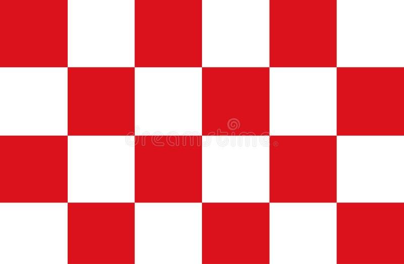 Wektor flaga Północny Brabant jest prowincją w południe holandie ilustracji