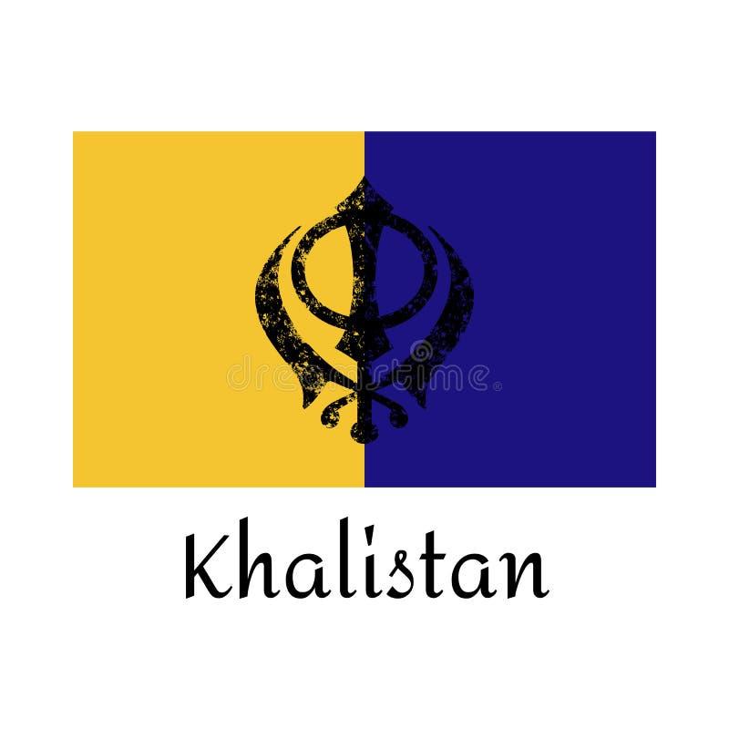 Wektor flaga sikhijczyk Sikhism spititually ikona, święty symbol - khanda Szczęśliwy vaisakhi projekta szablon dla plakata ilustracja wektor