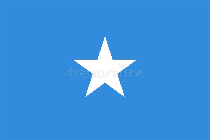 Wektor flaga Somalia Proporcji 2:3 Somalijska flaga państowowa Federacyjna republika Somalia royalty ilustracja