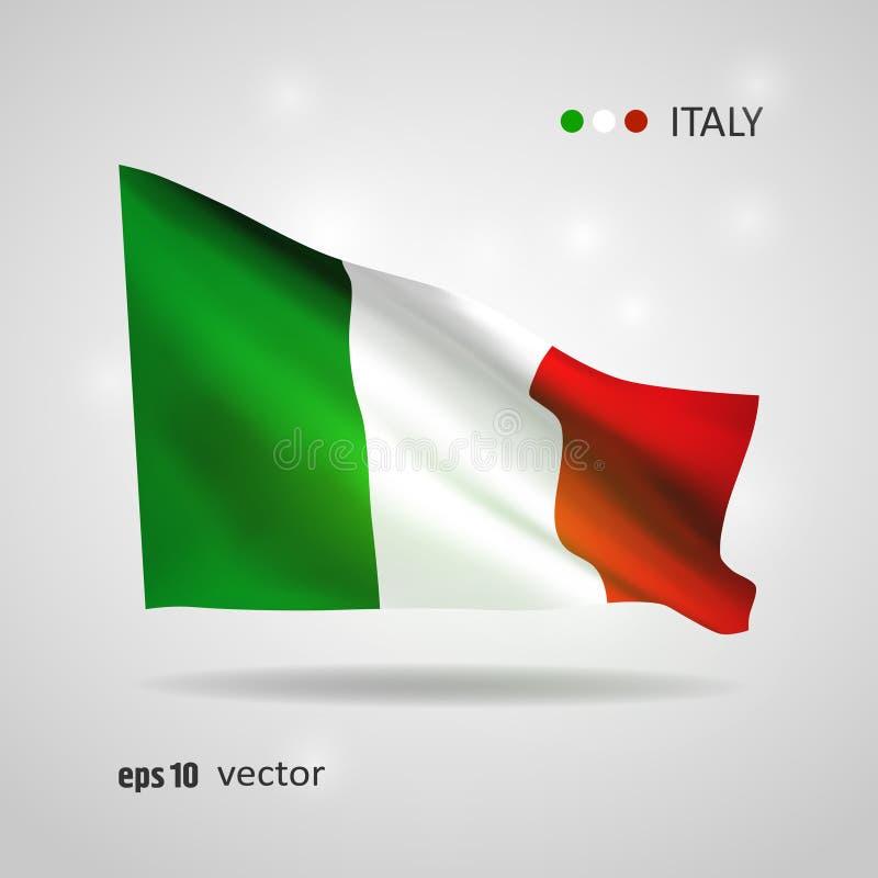 Wektor flaga Włochy royalty ilustracja