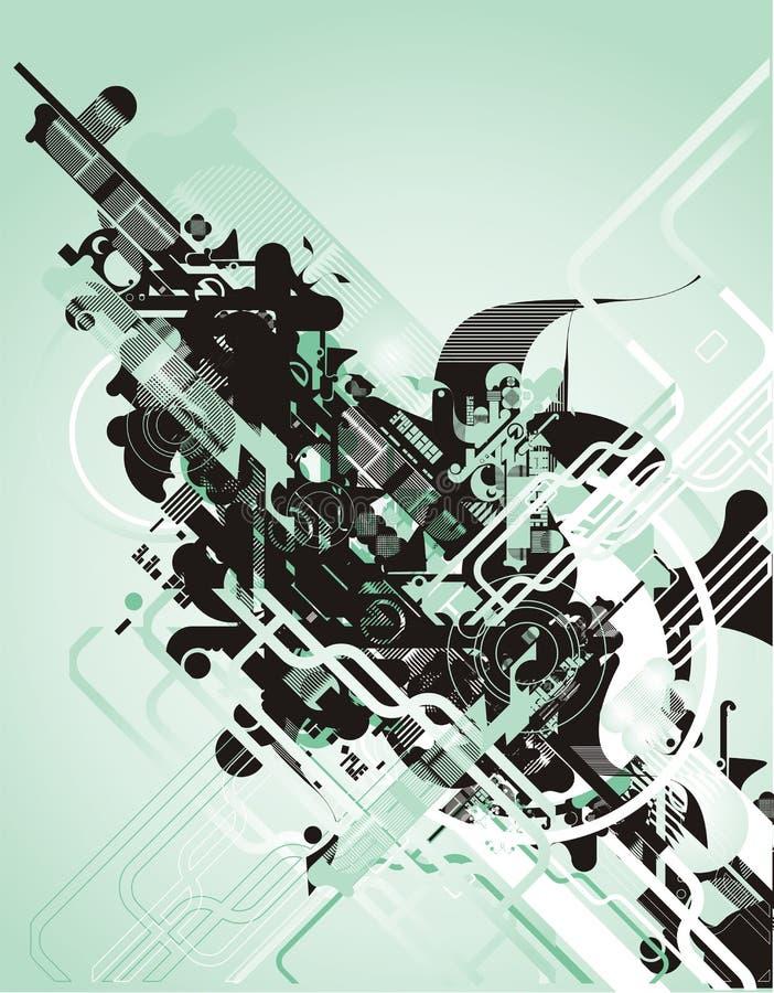 wektor futurystyczny abstrakcyjne ilustracji