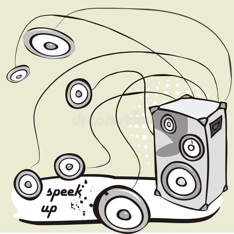 wektor głośnikowy ilustracja wektor