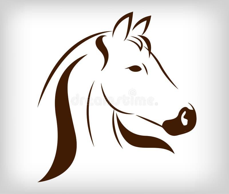 Wektor głowa koń ilustracji