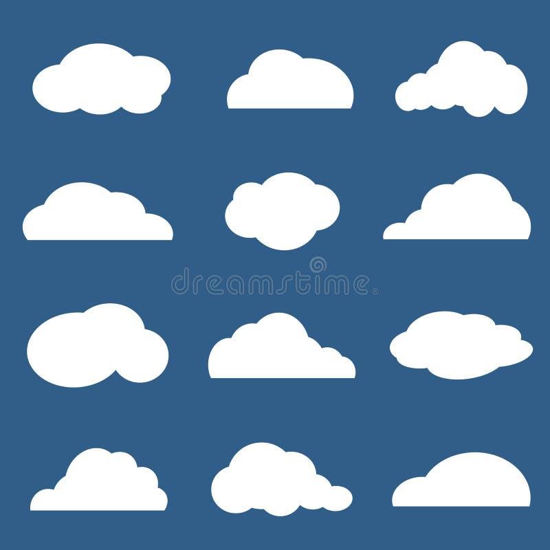 Download Wektor grupa chmury ilustracja wektor. Ilustracja złożonej z tło - 41952621