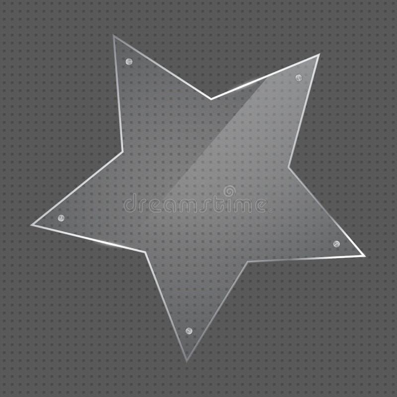Wektor gwiazdy kształta szkła rama z gwoździami ilustracji