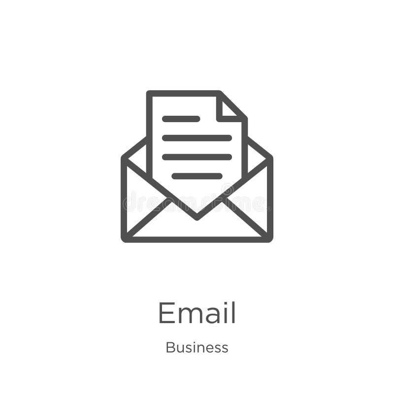 Wektor ikon poczty e-mail z kolekcji biznesowej Ilustracja wektora ikony konspektu cienkiego wiersza Konspekt, ikona cienkiej lin ilustracja wektor