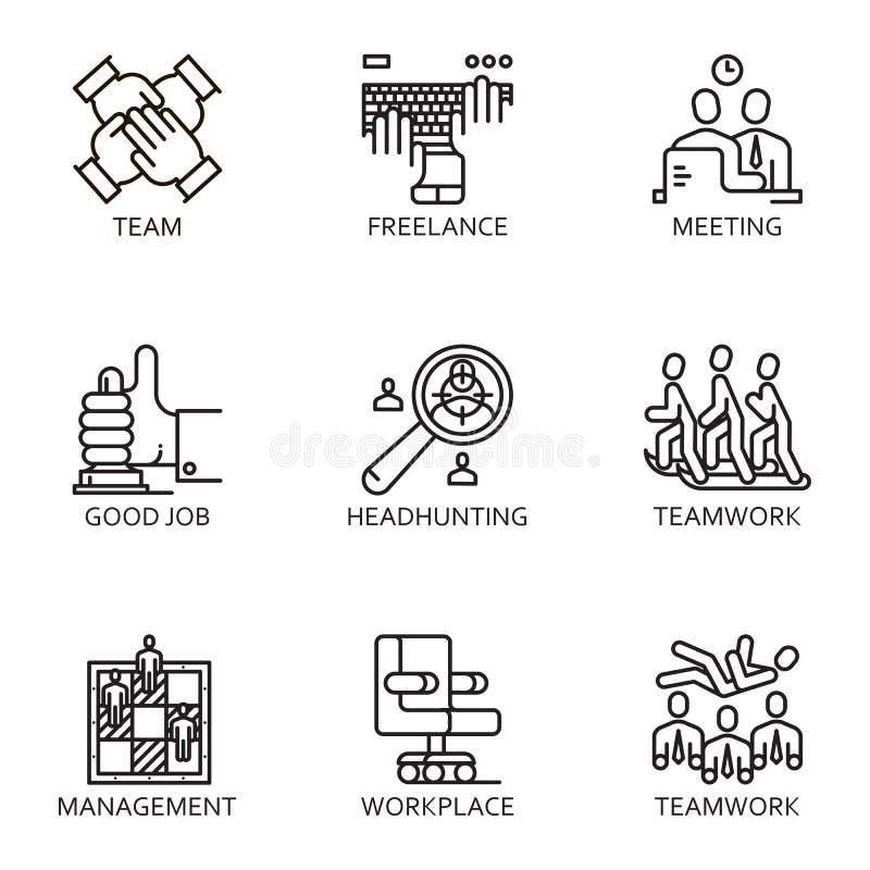 wektor ikony ustalony biznes ilustracji
