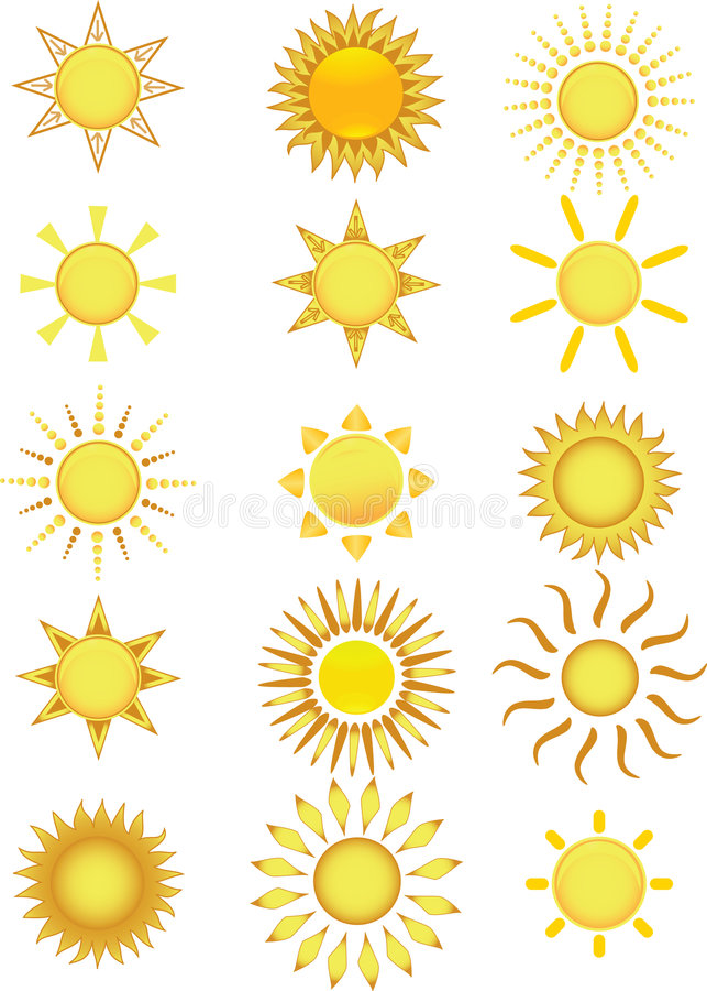 wektor ilustracyjny ikony słońca ilustracji
