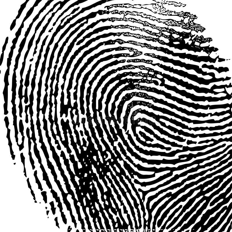 wektor ilustration odcisków palców ilustracja wektor