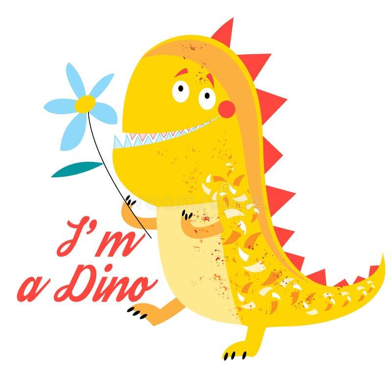 Wektor jaskrawy śmieszyć dinosaura ilustracja wektor