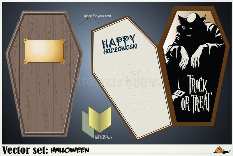 Wektor karta na temacie Halloween ilustracja wektor