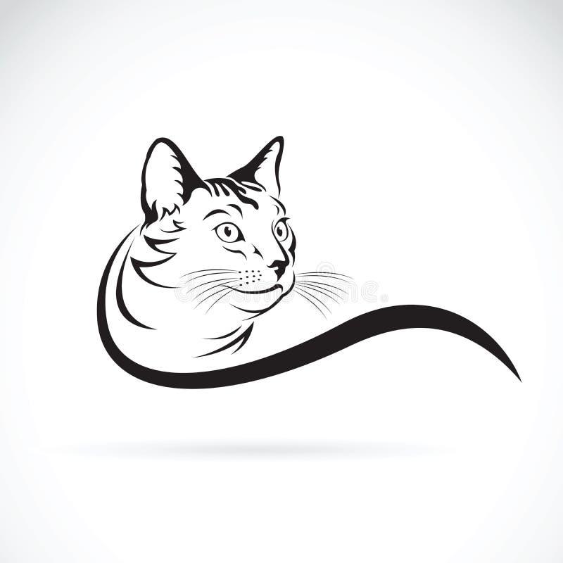 Wektor kota projekt na białym tle pet ilustracja wektor